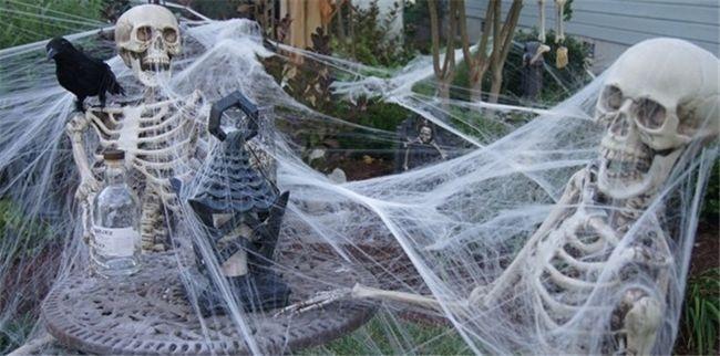 Ragnatele finte per Halloween