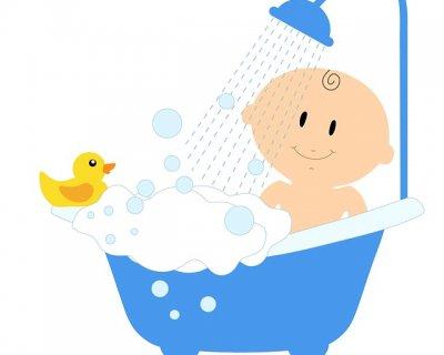 Vasca Da Bagno Neonati : Neonato asiatico bagno esterno nella vasca da bagno bianco egli è