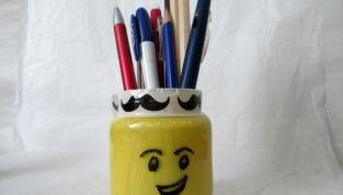 Portamatite per la festa del papà ispirato ai Lego