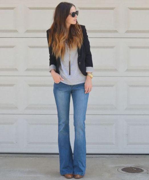 Scarpe pantaloni a zampa
