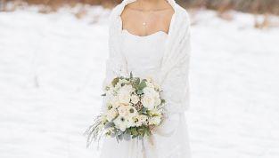 4 consigli per la scelta dell'abito da sposa in inverno