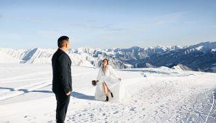 Matrimonio in inverno, magico e caldo