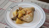 Pollo in padella con olive, un secondo sfizioso