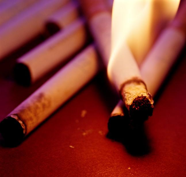 I quadri di polmoni hanno smesso di fumare