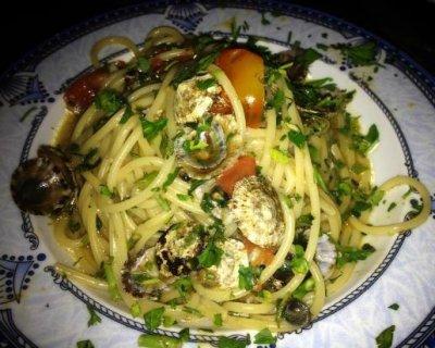 Spaghetti con patelle