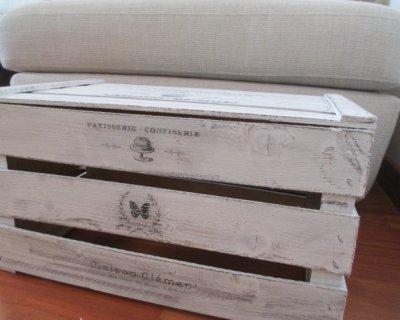 Tavoli Da Salotto Fai Da Te : Cassetta di legno shabby chic fai da te