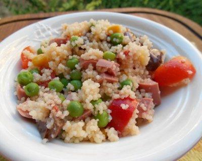 Insalata estiva di cous cous, una valida alternativa all'insalata di riso