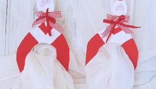 Portatovaglioli natalizi fai da te in cartoncino