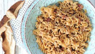 Pasta risottata con funghi e speck col Bimby