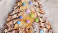 Albero di natale di pan brioche