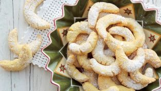 Vanille kipferl, biscotti tedeschi natalizi alla vaniglia