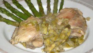 Petto di pollo agli asparagi