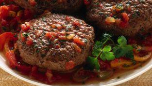 Hamburger alle verdure e pomodoro