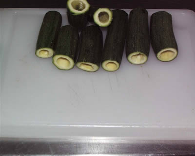 Zucchine svuotate