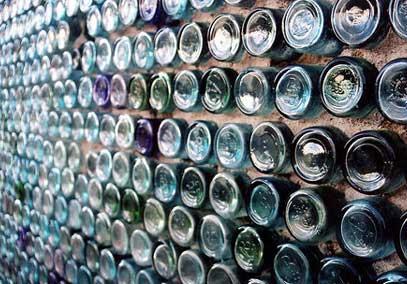 Bottiglie vetro riciclato