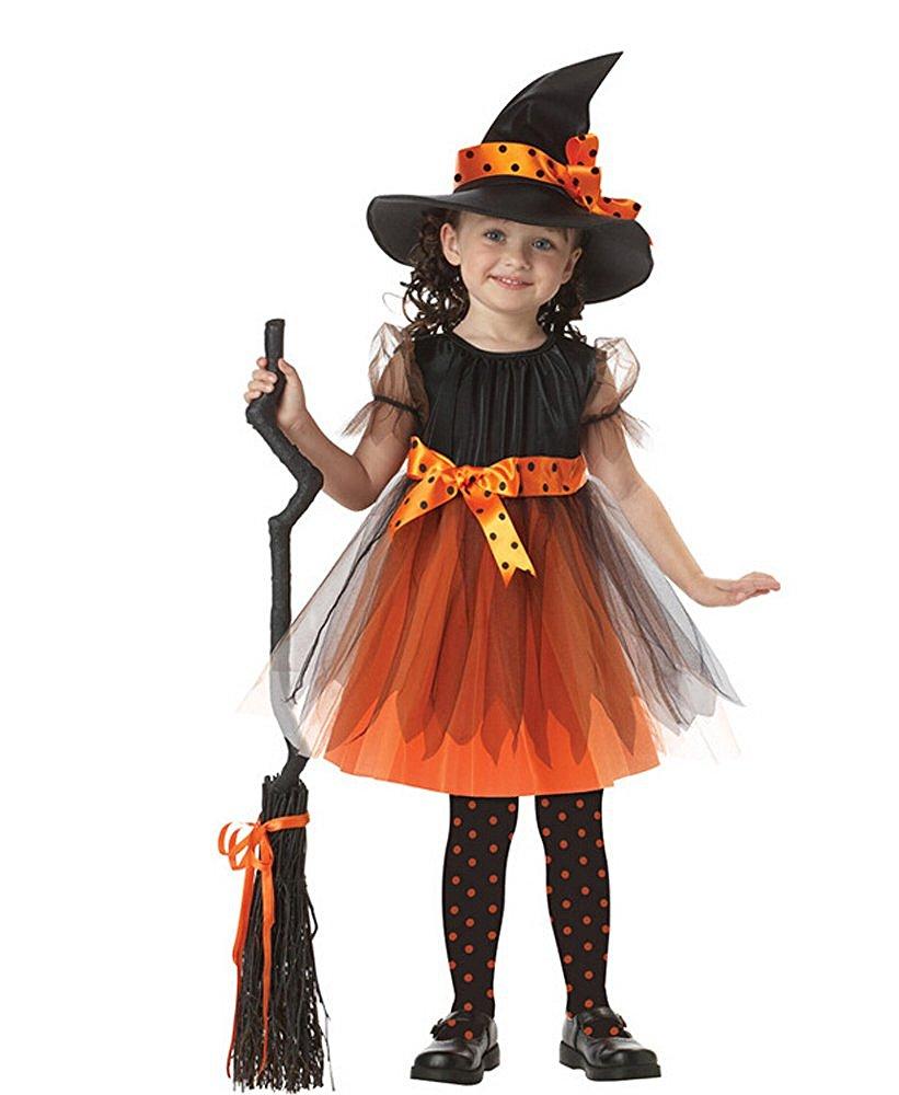 """Costume da strega. Se alla tua bimba piace rimanere sul classico allora  bisogna per forza orientarsi su un bel costume di halloween per bambina a  tema """" ... a662bfa23c08"""