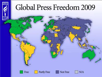 Italia agli ultimi posti per libertà di informazione