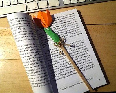 Regalino per la Maestra: un tulipano in origami come segnalibro