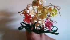Bouquet da sposa con gli origami: ecco come realizzarlo da sola