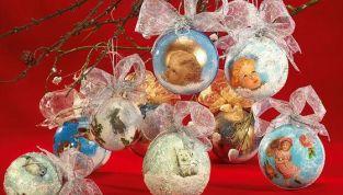 Palline di Natale con il decoupage