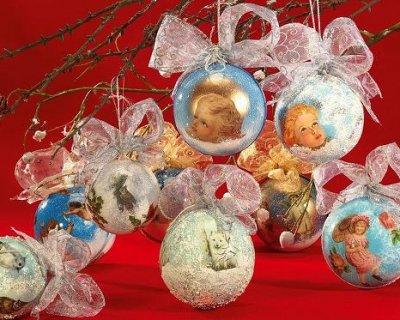 Palline Di Natale Con Le Foto.Palline Di Natale Con Il Decoupage
