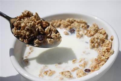 Corn flakes per colazione
