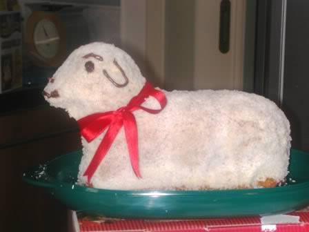 Torta agnello di pasqua
