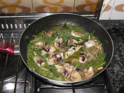 Ricetta seppie e asparagi