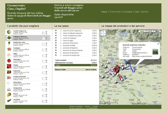 Pagina internet Geomercato.it