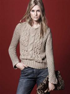 Maglione di lana con le trecce zara