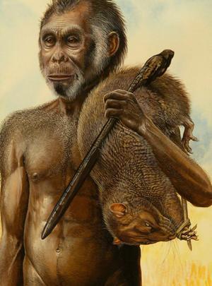 Uomo preistorico cacciatore