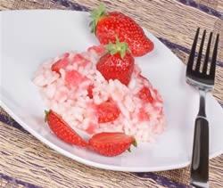 Ricette san valentino: risotto alle fragole