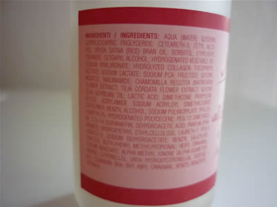 INCI crema acido ialuronico e vitamina E Naturans
