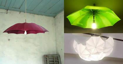 Riutilizzo ombrelli: realizzare un lampadario