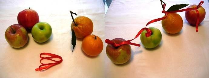 Centrotavola natalizi fai da te - Centro tavola con frutta ...