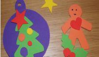 Decorazioni di natale per bambini in gomma crepla