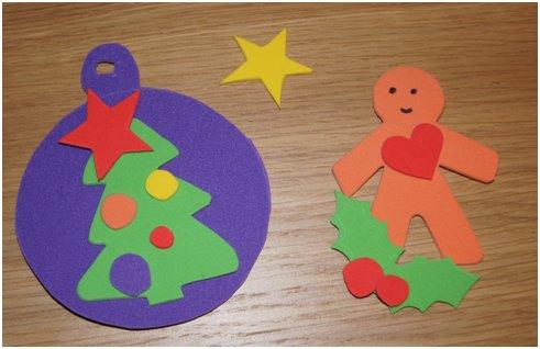 Decorazioni di natale per bambini in gomma crepla for Addobbi di natale per bambini scuola infanzia