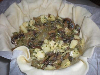Torta salata ai funghi