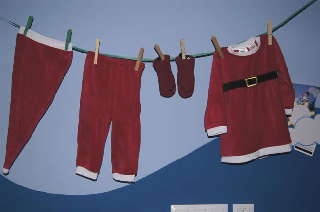 Decorazioni natalizie  cameretta bambini
