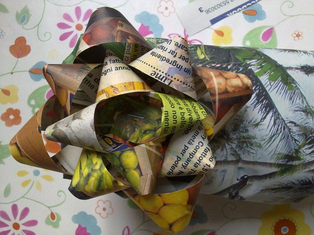 spesso Pacchi regalo fai da te con materiali di riciclo QE54
