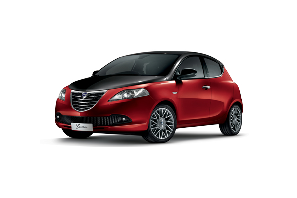 Lancia Ypsilon Black & Red l'auto sporty chic