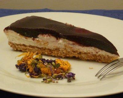 Cheese cake alla marmellata di more