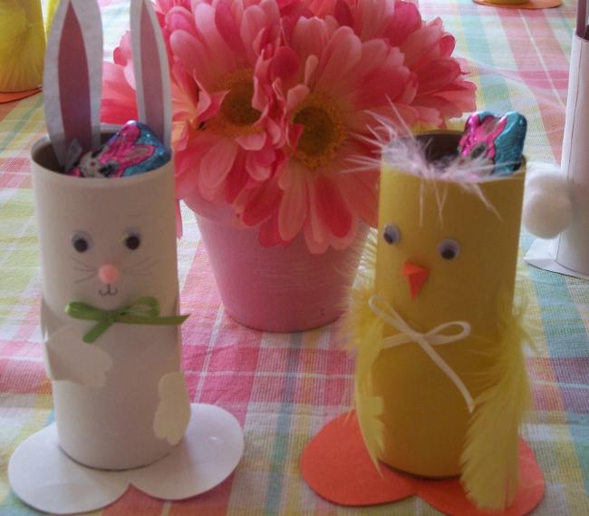 Amato Lavoretti di Pasqua per bambini con rotoli di carta NW41