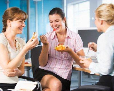 Pausa pranzo a lavoro in tempo di crisi