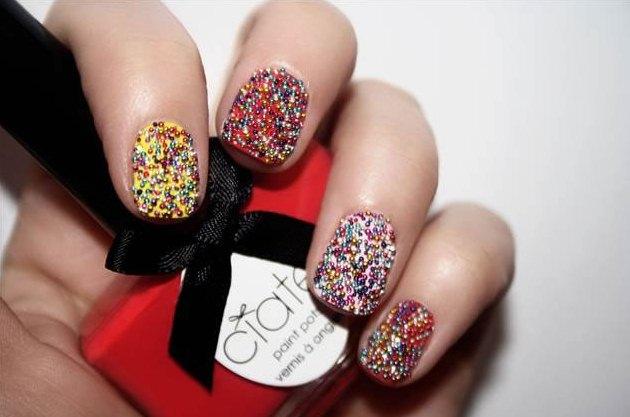Caviar Manicure 2012 unghie caviale tutorial