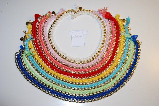 Famoso Bracciali e collane colorati con catene ispirati a Aurelie Bidermann VG27