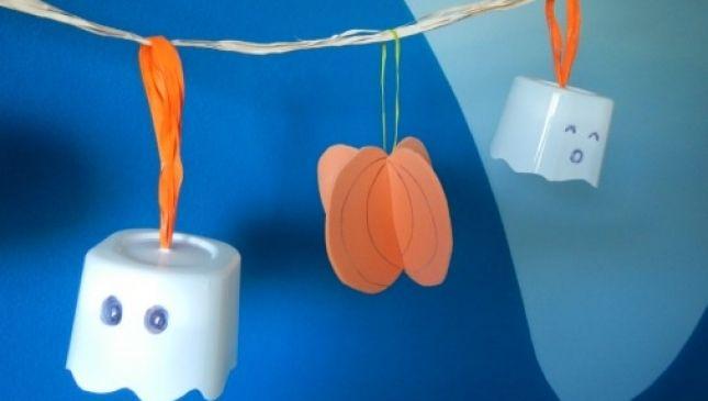 Ghirlanda di Halloween fai da te per bambini