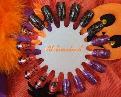 Nail art stamping per Halloween