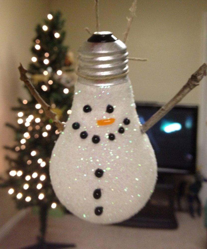 Lampadina A Pupazzo Di Neve Di Natale Da Appendere All 39 Albero