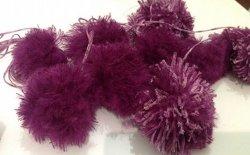 Palline di natale di lana fai da te